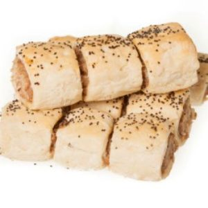 GLUTEN FREE Sausage Rolls - Onion Party 12 pack (df, yf, sf)