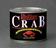 Crab Meat - Phillips Jumbo Lump Can 12 x 454gm