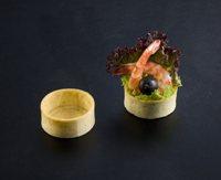 524 La Rose Noire - Savoury Small Round Tart Shells  100 per box