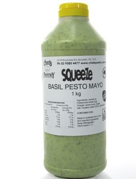 BASIL PESTO MAYONNAISE 1LTR  FREE RANGE