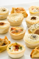 Bakery - Party Quiche Cheese and Bacon 6pce- Gluten Free