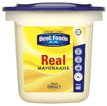 Best Foods Real Mayonnaise (6 per box), 1290g