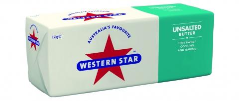 Butter Western Star Unsalted Butter 1.5kg